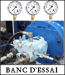 banc essai hydraulique, teste pompe hydraulique