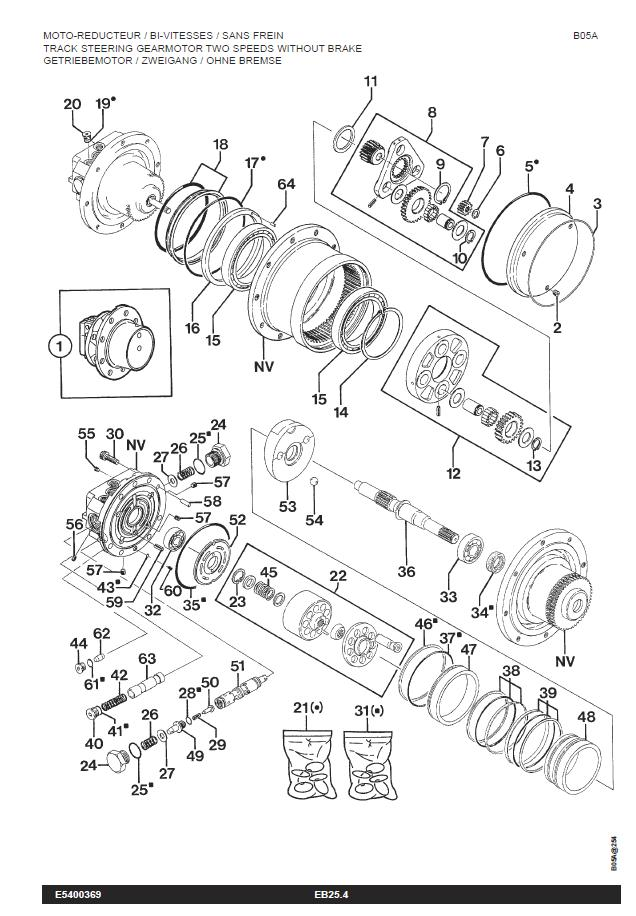 pelleteuse probl u00e8me translation moteur hydraulique